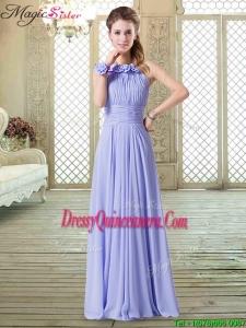 Sweet Empire Halter Top Dama Dresses in Lavender