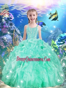 Beautiful Ball Gowns Straps 2016 Mini Quinceanera Dresses with Beading