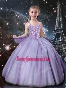 Classical Straps Mini Quinceanera Dresses in Lavender