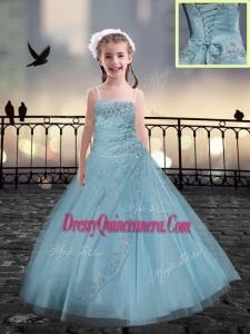 Lovely Beading Mini Quinceanera Dresses in Light Blue
