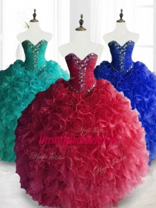 2016 Gorgeous Custom Made Quinceanera Dresses with Beading