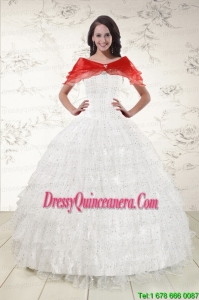 Pretty Ball Gown Formal Quinceanera Dresses with Sequins and Ruffles