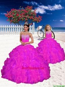 Top Seller Appliques and Beading Fuchsia Princesita Dress for 2015