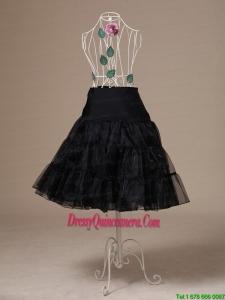 Brand New Black Organza Tea Length Wedding Petticoat