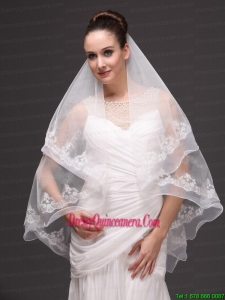 Fashion Best Wedding Veils With Appliques Hot Saling