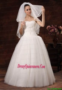 Two Layers Tulle Elbow Length Popular Wedding Veil