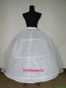 White Tulle And Organza Floor Length Petticoat For Ball Gowns