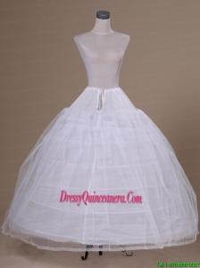 White Tulle Floor Length Petticoat