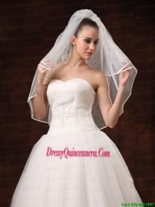 2 Layers Elbow Length Beautiful Wedding Veil