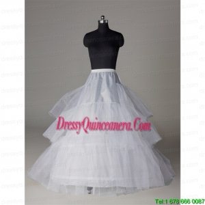 Popular Organza A Line 3 Layers White Petticoat