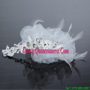 Fashionable Feather Tulle Rhinestone Fascinators for Women