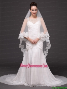 Lace Appliques Tulle Graceful Wedding Veil