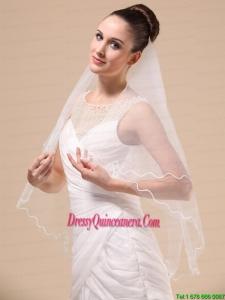 Royal Discount Tulle Ribbon Edge Bridal Veil For Wedding