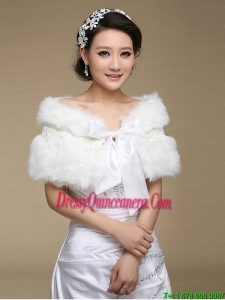 2015 Instock Bridal Shawl with Open Front