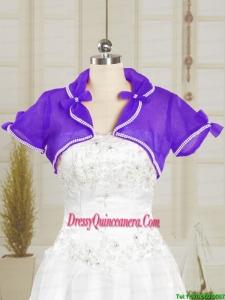 2014 Fashionable Organza Wedding Party Shawls with Beading