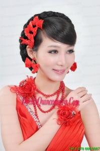 Elegant With Pearl Rhinestone Ladies Jewelry Sets