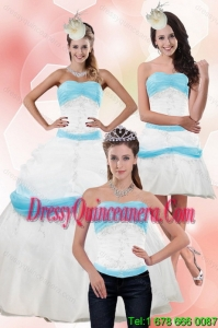 Detachable Strapless Ball Gown Quinceanera Dress with Appliques for 2015