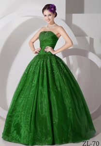 A-line Sweetheart Tulle Ruched and Beaded Sweet Sixteen Quinceanera Dress