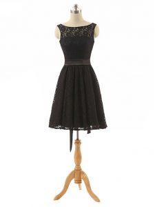Lace Sleeveless Mini Length Damas Dress and Lace and Belt