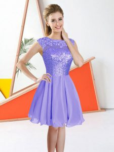 Sleeveless Backless Knee Length Beading and Lace Court Dresses for Sweet 16