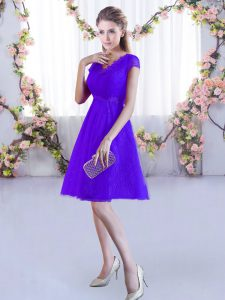 High End Cap Sleeves Lace Lace Up Dama Dress for Quinceanera