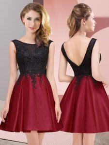 Sleeveless Lace Zipper Dama Dress