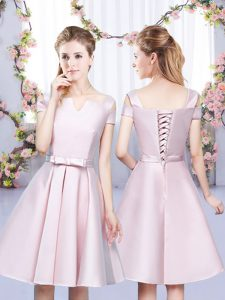 Extravagant Sleeveless Bowknot Lace Up Vestidos de Damas