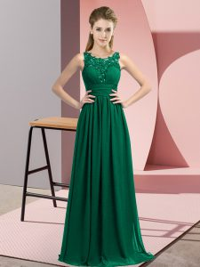 Inexpensive Sleeveless Beading and Appliques Zipper Quinceanera Court of Honor Dress