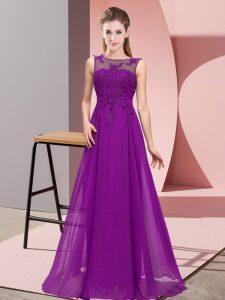 Custom Designed Sleeveless Beading and Appliques Zipper Quinceanera Dama Dress
