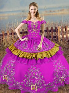 Custom Made Purple Sleeveless Organza Lace Up Quince Ball Gowns for Sweet 16 and Quinceanera