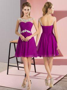 Best Selling Cap Sleeves Beading Lace Up Vestidos de Damas