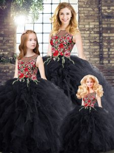 Best Selling Black Sleeveless Zipper Sweet 16 Dresses for Military Ball and Sweet 16 and Quinceanera
