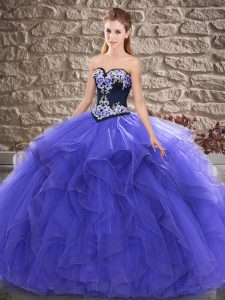 Sleeveless Lace Up Floor Length Beading and Embroidery Quinceanera Gowns