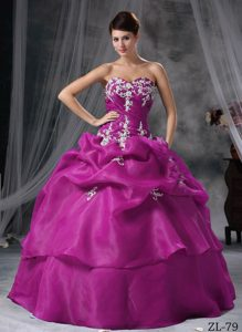 Inexpensive Sweetheart Ball Gown Style Sweet 16 Dresses in Organza