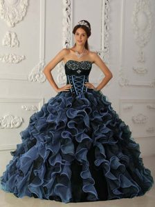 Cheap Sweetheart Organza Quinceanera Dresses with Beading