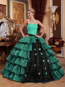 Muti-Color Ball Gown Strapless Sweet 16 Dresses for Custom Made