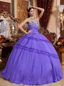 Ball Gown Sweetheart Sweet Sixteen Quinceanera Dress with Appliques and Layers