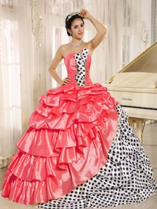 Popular Multi-colored Quinceanera Gown Dresses with Pick-ups in the Mainstream