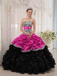 Brand New Hot Pink and Black Sweetheart Sweet 16 Quinceanera Dresses