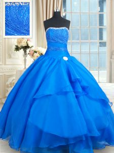 Sleeveless Court Train Beading and Lace and Sequins Lace Up Quinceanera Dresses