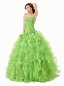 Floor Length Quinceanera Dresses Sweetheart Sleeveless Lace Up