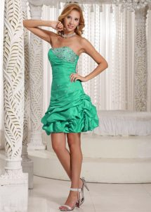 Classical A-line Strapless Beaded Damas Dresses for Quince with Pick-ups