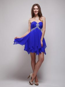 Charming Sweetheart Royal Blue Quinceanera Damas Dress with Beading