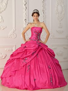 Strapless Sweet Sixteen Quinceanera Dress with Appliques on Sale