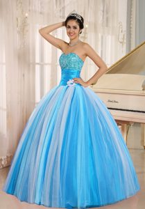 Multi-color 2013 New Arrival Strapless Tulle Multi-color Quinceaneras Dress