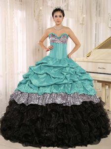 Ready to Wear Sweetheart Quinceanera Dress with Ruffles for Custom Made